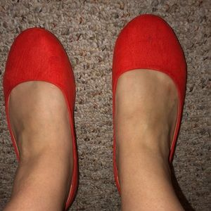Lane Bryant Faux Suede Round Toe Flat